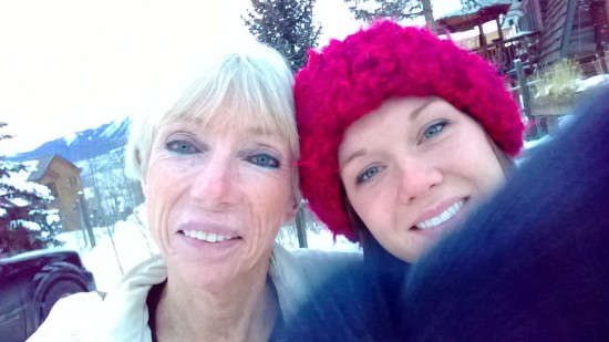 My mom and me in Dillon, CO. She helped me moved and was so supportive.